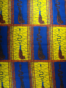 # 8 - Tissu WAX pagne africain 182X118CM -  100% Coton- African Print