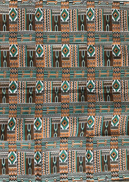 # 34 - Tissu WAX pagne africain 182X118CM -  100% Coton- African Print