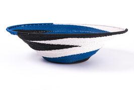 Paniers en fil de téléphone - Large -Bleu blanc noir