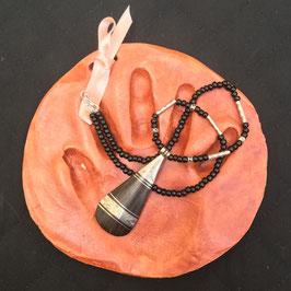 Collier pendentif ébène Touareg- Bouteille