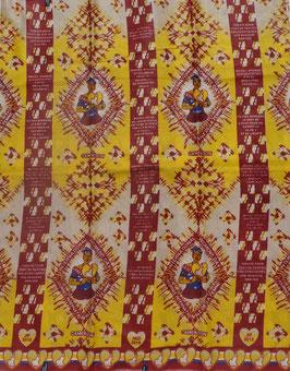 # 7 -Tissu WAX pagne africain 182X118CM -  100% Coton- African Print - journée de la femme 8 mars