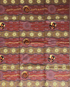 # 46 - Tissu WAX pagne africain 182X118CM -  100% Coton- African Print Fête des mères