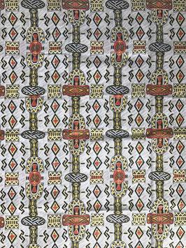 # 33 - Tissu WAX pagne africain 182X118CM -  100% Coton- African Print - Ethnique