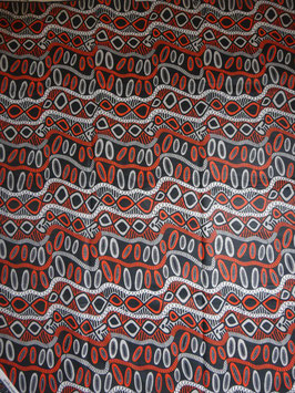 # 11 -Tissu WAX pagne africain 182X118CM -  100% Coton- African Print