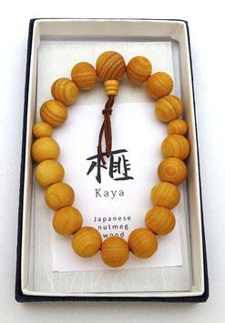Bracelet Nenju, Bois de Torreya (Kaya)