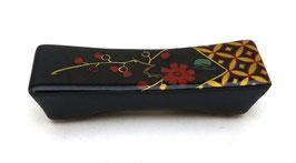 Repose-baguettes Motifs Shippô tsunagi et Fleurs sur fond noir