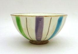 """Bol motif """"Dix brins d'herbe"""" (tricolores)"""