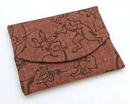 Pochette pour mouchoir Kakishibuzome motif Chôjû-giga
