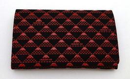 Porte-Cartes Inden Mont Fuji (rouge sur fond noir)