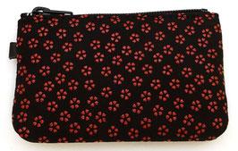Petit porte-monnaie Inden Fleurs de Sakura rouges