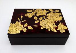 """Boîte à accessoires """"Roses"""" intérieur capitonné"""
