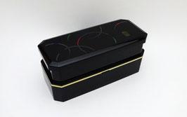 Boîte à bento, Cercles Colorés sur Fond Noir, sac tissu