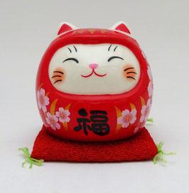 Maneki Neko Daruma rouge