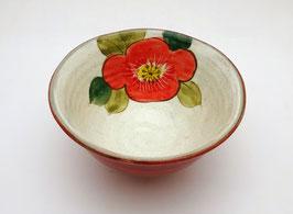 Bol, Intérieur Fleur (rouge)