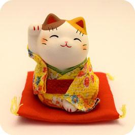 Petit Maneki Neko Tissu Chirimen