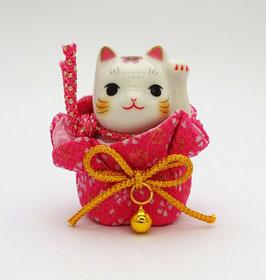 Petit Maneki Neko Tissu Chirimen rose