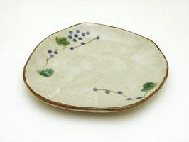 """Petite assiette, motifs """"Raisins et lierre japonais"""""""