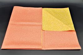 Furoshiki réversible rose et jaune