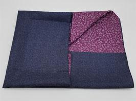 Furoshiki réversible bleu et violet