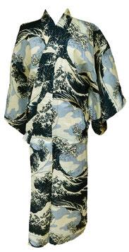 "Yukata ""La Vague"" d'Hokusai"
