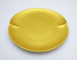 Assiette Porcelaine et Feuille d'or
