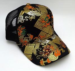 Casquette Dragon (noire et dorée)