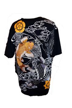 T-Shirt Noir Brodé Les Carpes