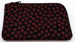 Porte-monnaie Inden  Sakura roses fond noir (D)