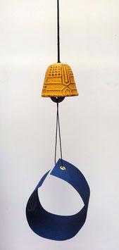 Clochette (fûrin) en fonte Iwachu (jaune orangé)