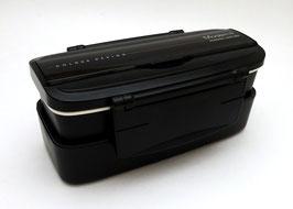 """Boîte à bento compactable """"Modern+"""" (noire)"""