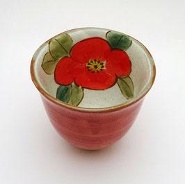 Tasse Haute, Intérieur Fleur (rouge)