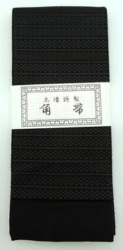 Obi Homme traditionnel, noir motifs lignes et damiers