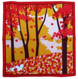 Furoshiki Ecureuils, Momiji et Paysage boisé d'automne