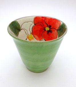 Tasse Haute, Intérieur Fleur (verte)