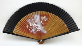 Eventail en soie et bambou Dragon
