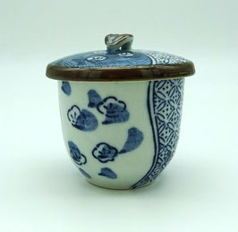 "Petit pot mushiwan motif ""Pruniers"""