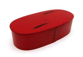 Boîte à bento traditionnelle Ohitsuben Rouge