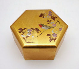 Boîte hexagonale Hanamidori