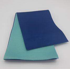 Obi réversible Bleu marine & Bleu turquoise