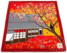Furoshiki Chat, Maison de thé et Paysage d'automne