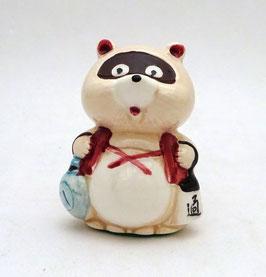 Figurine Tanuki, porcelaine
