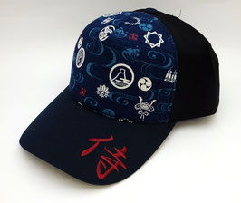 Casquette Samurai (bleu marine et noir)
