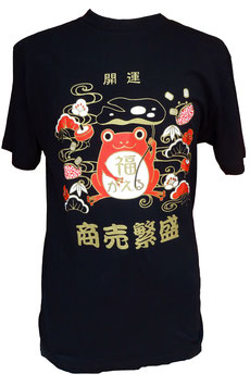 T-Shirt Noir Grenouille porte-bonheur