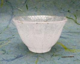 Coupe à saké verre et poudre d'or (blanc)