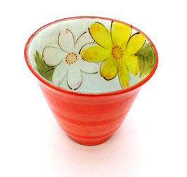Tasse Haute, Intérieur Fleur (orangée)