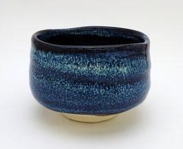 Bol à Matcha Ondulations bleues