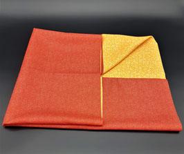 Furoshiki réversible rouge et jaune