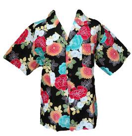 Chemise Grandes Fleurs sur fond noir