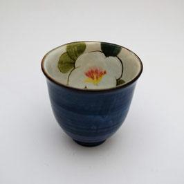 Tasse Haute, Intérieur Fleur (bleue)