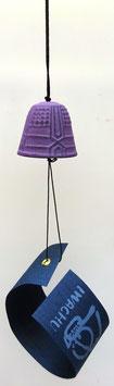 Clochette (fûrin) en fonte Iwachu (violet)